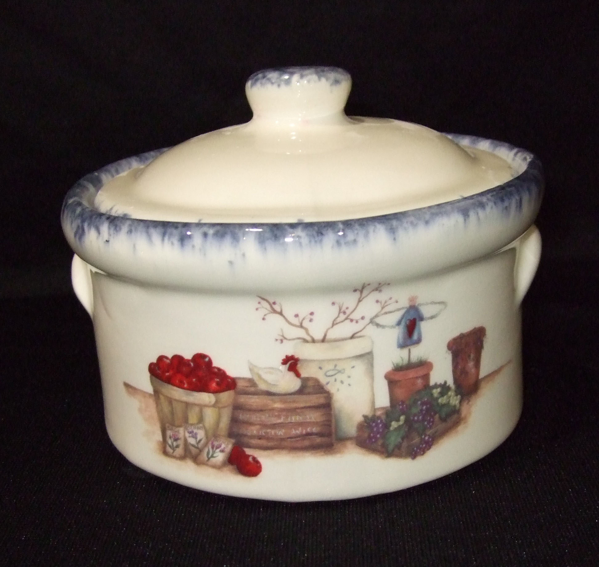 crock, crockery, cheese crock, sugar dish, pottery, ceramics, custom