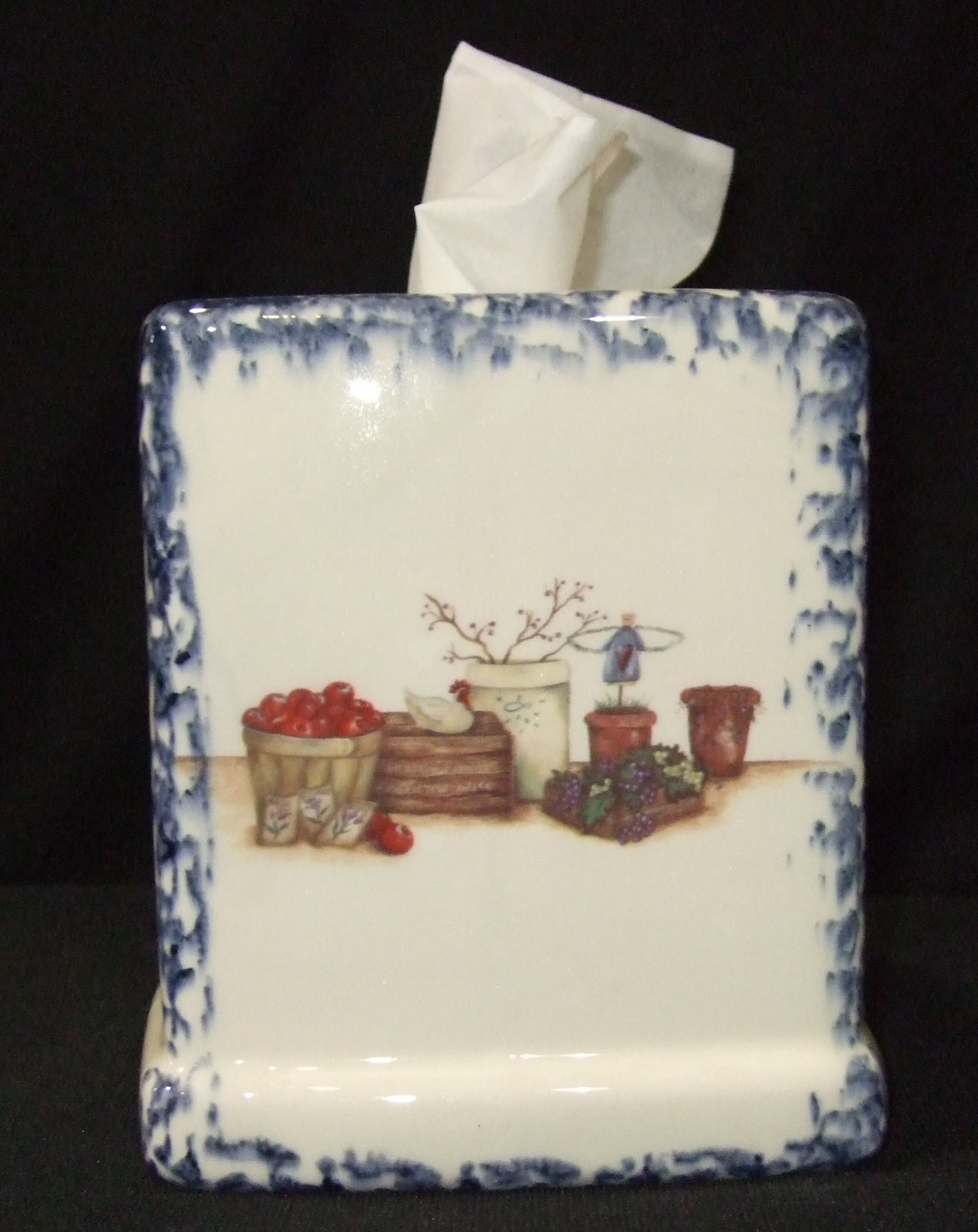 tissue box cover, kleenex box cover, pottery