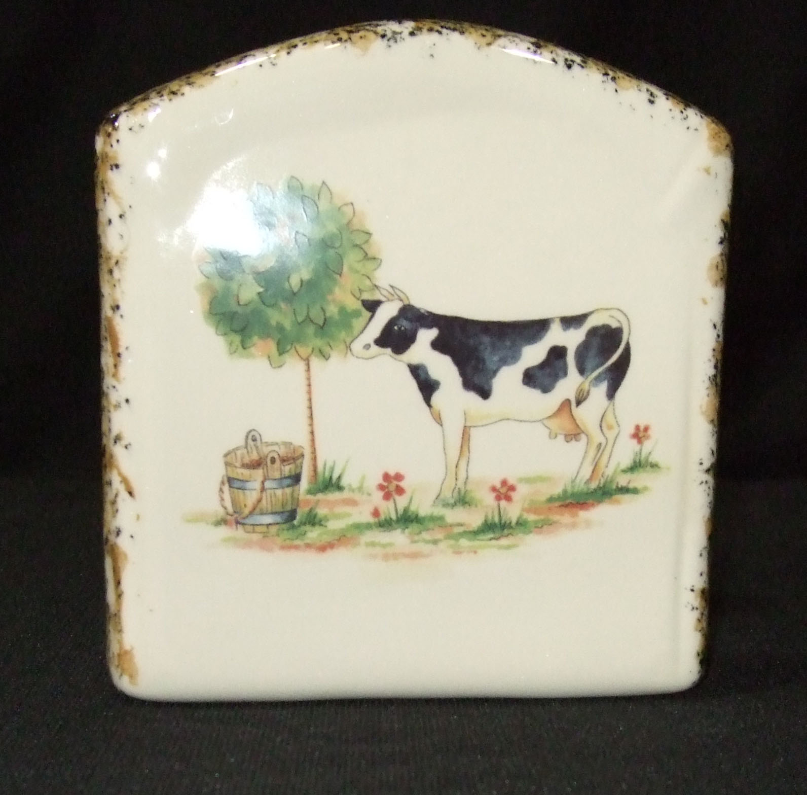 napkin holder, napkins, tableware, custom, pottery, ceramics, country, handmade, USA
