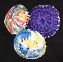 scrubbies, crocheted, pottery, unique gift, kitchen, present