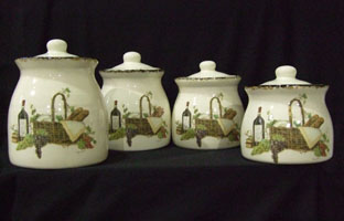 pottery, canisters, canister set, custom, sealed