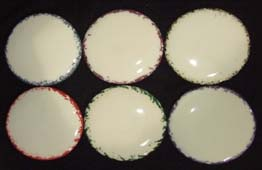 Accent colors sample pottery